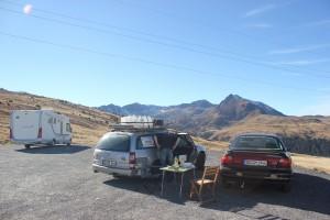 Mittag in Andorra, 2408 m Höhe